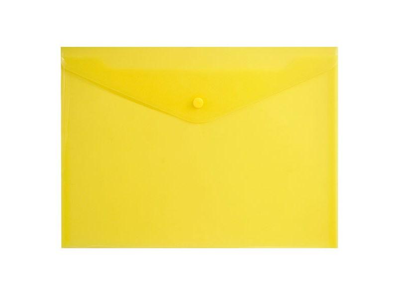 Конверт на кнопке inФОРМАТ А4, желтый