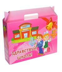 Коробка для набора первоклассника, розовая
