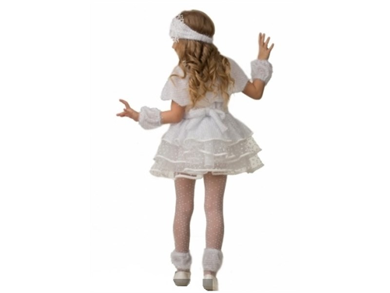 Новогодний костюм Снежинки Снеговичка для девочки