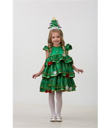 Новогодний костюм Ёлочка-Малышка для девочки
