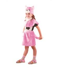 """Новогодний костюм """"Кошка"""" розовая для девочки"""