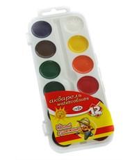 Краски акварельные Гамма Юный художник 12 цв. пластик. упаковка 212071