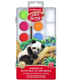 Краски акварельные ArtBerryс УФ защитой яркости 12 цветов