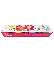 "Краски пальчиковые Гамма ""Умная Мама"", 04 цвета, 90мл, неоновые, картон"