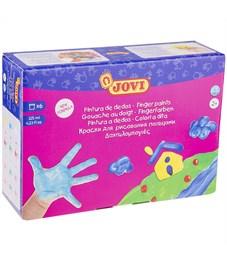 Краски пальчиковые JOVI, 06 цветов, 750г, картон