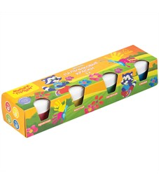 """Краски пальчиковые Мульти-Пульти """"Приключения Енота"""", 04 цв., 140мл, для малышей,1+, картон"""