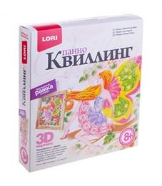 "Квиллинг-панно Lori 3D ""Цветочная фея"", с рамкой, картонная коробка"