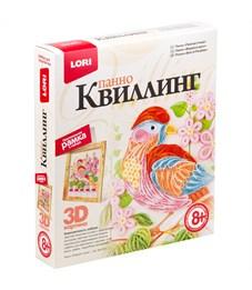 """Квиллинг-панно Lori 3D """"Райская птица"""", с рамкой, картонная коробка"""