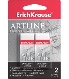 Ластик ErichKrause Art Line Extra Soft белый, 2 шт., блистер