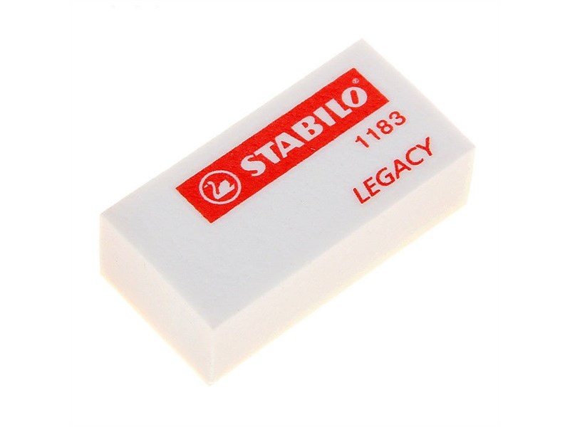 Ластик Stabilo Legacy 35х18х11 мм белый