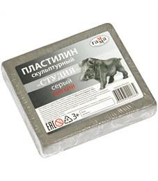 "Пластилин скульптурный Гамма ""Студия"", серый, мягкий, 500г"