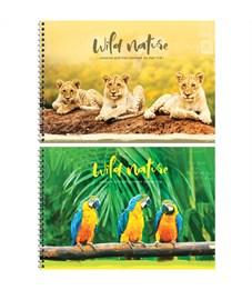 """Альбом для рисования 40л., А4, на гребне ArtSpace """"Животные. Wild world card"""""""