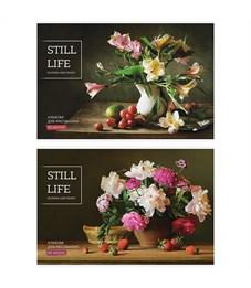"""Альбом для рисования 40л., А4, на скрепке ArtSpace """"Цветы. Still life"""""""