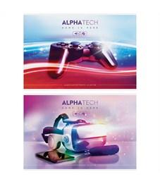 """Альбом для рисования 40л., А4, на скрепке ArtSpace """"Увлечения. Neon. Alphatech"""""""