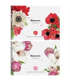 """Альбом для рисования 48л., А4, на гребне ArtSpace """"Цветы. Flowers"""", твин-лак"""