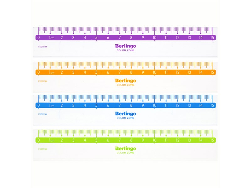 "Линейка 15см Berlingo ""Color Zone"", прозрачная"