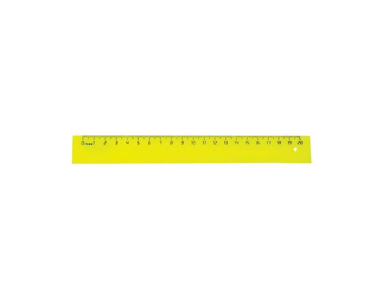 Линейка пластиковая 20 см. непрозрачная