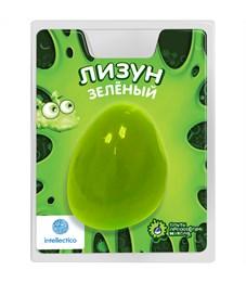 Лизун цветной Intellectico, зеленый, блистер
