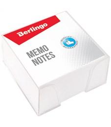 """Блок для записи Berlingo """"Standard"""", 9*9*4,5см, пластиковый бокс, белый"""