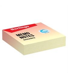 """Блок для записи декоративный на склейке Berlingo """"Radiance"""", 8,5*8,5*2 , желтый-коралловый, 220л."""