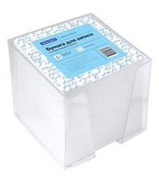 Блок для записи OfficeSpace, 9*9*9см, пластиковый бокс, белый