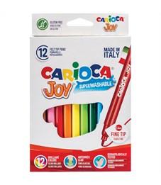 """Фломастеры Carioca """"Joy"""", 12цв., смываемые, картон, европодвес"""