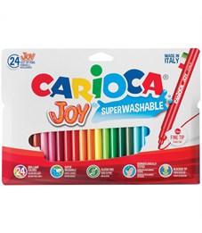 """Фломастеры Carioca """"Joy"""", 24цв., смываемые, картон, европодвес"""