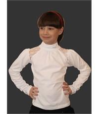 Блузка Mattiel с воротником-стойкой и вставками кружева на плечах