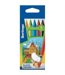 """Мелки пластиковые Berlingo """"Волшебный дворец"""", 06цв., шестигранные, картон, европодвес"""