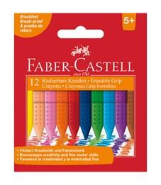 """Мелки пластиковые Faber-Castell """"Grip"""" 12цв., трехгранные, картон, европодвес"""