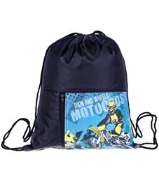 """Фото 1. Мешок для обуви 1 отделение ArtSpace """"Motocross"""", 340*410мм, карман на молнии"""