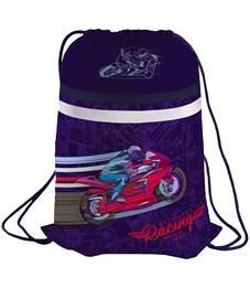 """Мешок для обуви 1 отделение Berlingo """"Sportbike"""", карман на молнии, светоотражающая полоса"""