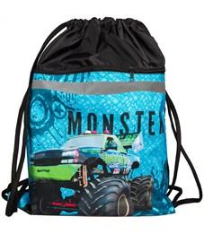 """Мешок для обуви 2 отделения ArtSpace """"Monster Truck"""", светоотражающая полоса"""