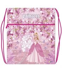 Мешок для обуви Оникс Принцесса с бабочками с карманом и сеточкой