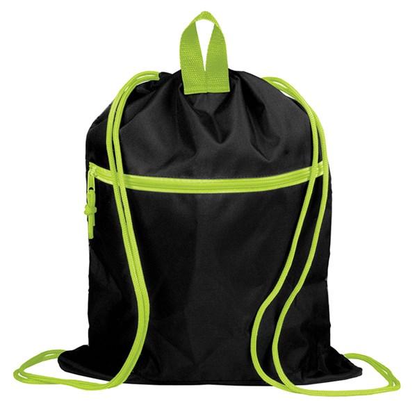 """Мешок для обуви Berlingo """"Neon Unicorn"""", 400*510мм, расшир. дно, свет.лента, 1отд., карман на молнии"""