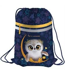 "Мешок для обуви Berlingo ""Owl dream"", 410*490мм, световозвращающая лента, 1 отд., карман на молнии"