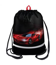 """Мешок для обуви Berlingo """"Red hurricane"""", 400*510мм, расшир. дно, свет.лента, 1отд., карман на молн"""
