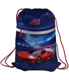 """Мешок для обуви Berlingo """"Super fast"""", 410*490мм, световозвращающая лента, 1 отд., карман на молнии"""