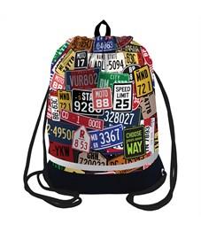"Мешок для обуви Berlingo ""Your way"", 400*510мм, расшир. дно, свет. лента, 1отд., карман на молнии"