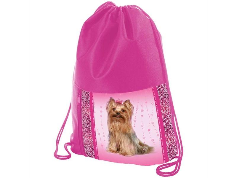 """Мешок для обуви Hatber """"Dog style"""" с карманом на молнии"""