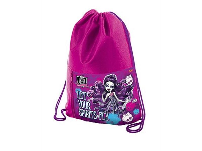 """Мешок для обуви Hatber """"Monster High"""" с карманом на молнии"""