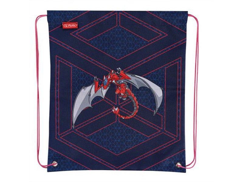 Мешок для обуви Herlitz Boys Mix 2 Red Robo Dragon