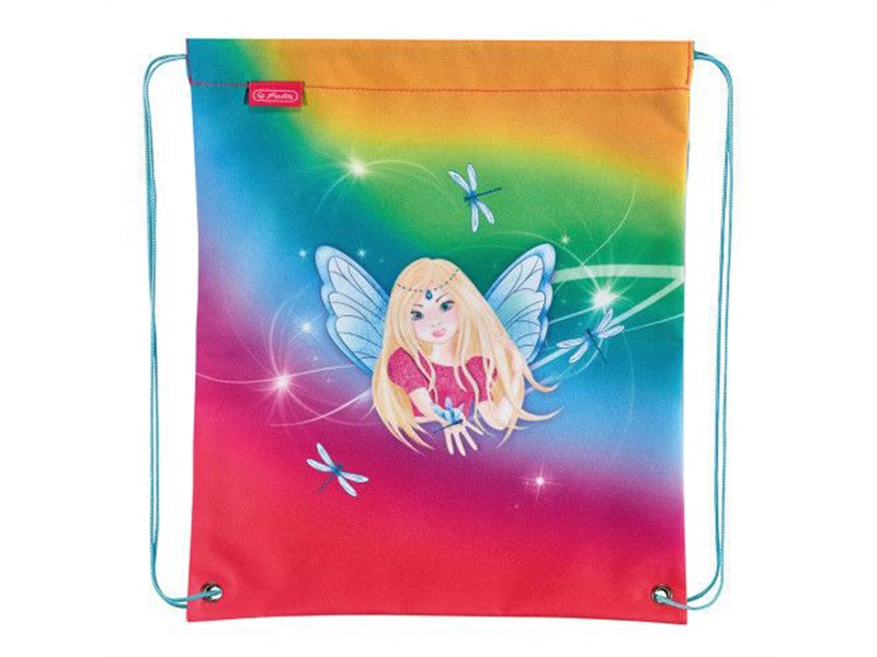 Мешок для обуви Herlitz Girls Mix 2 Rainbow Fairy