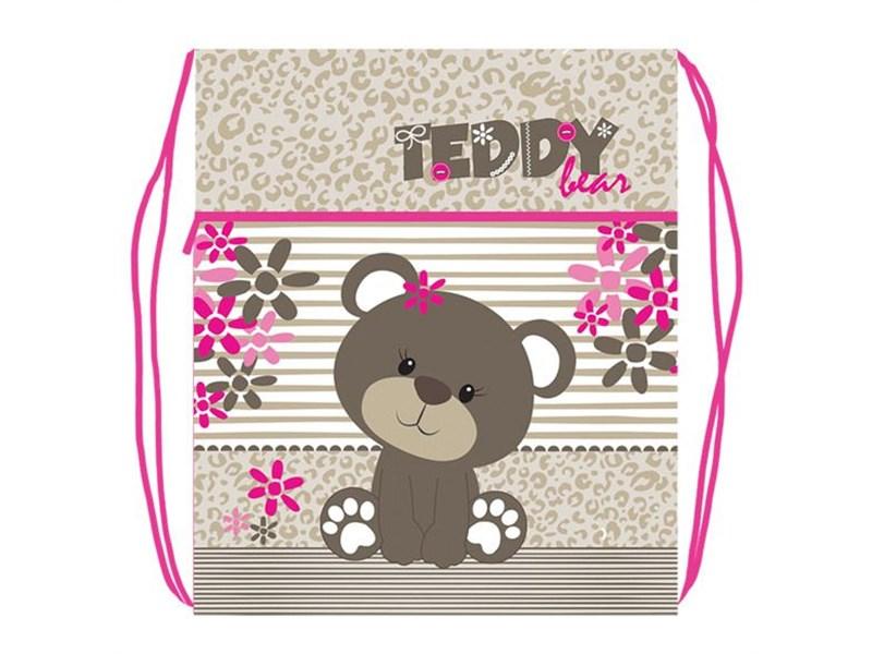"""Мешок для обуви Оникс """"Teddy"""" с карманом и сеточкой"""