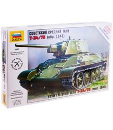 """Модель для сборки Звезда """"Советский средний танк Т-34/76"""", масштаб 1:72"""
