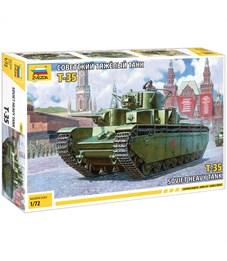 """Модель для сборки Звезда """"Советский танк Т-35"""", масштаб 1:72"""
