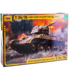 """Модель для склеивания Звезда """"Советский средний танк Т-34/76"""", масштаб 1:35"""