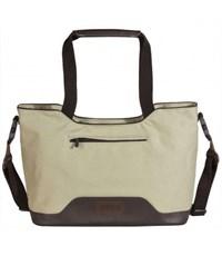 Молодежная сумка для отдыха Quer Q17 серая КОЖА+ТЕКС 882501-288