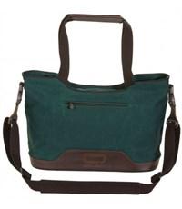 Молодежная сумка для отдыха Quer Q17 зеленая КОЖА+ТЕКС 882501-182