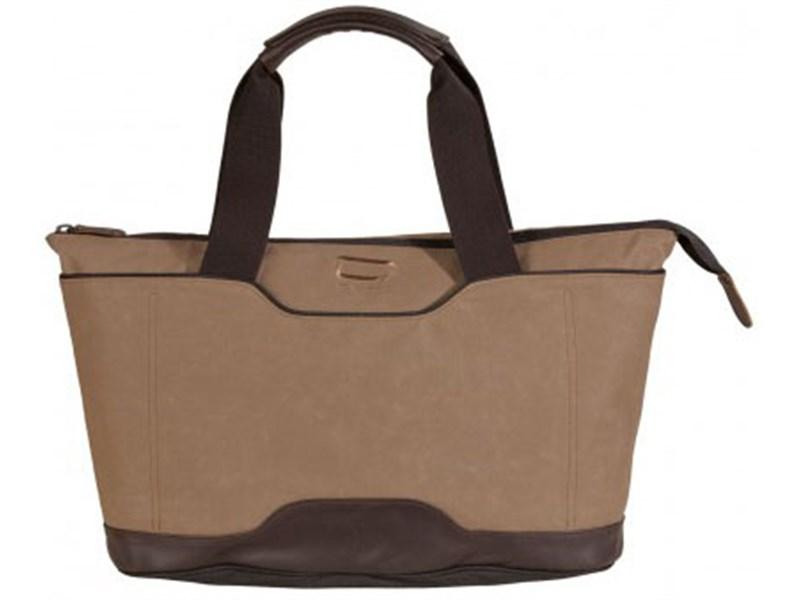 Молодежная сумка для отдыха Quer Q18 коричневая КОЖА+ТЕКС 882600-403